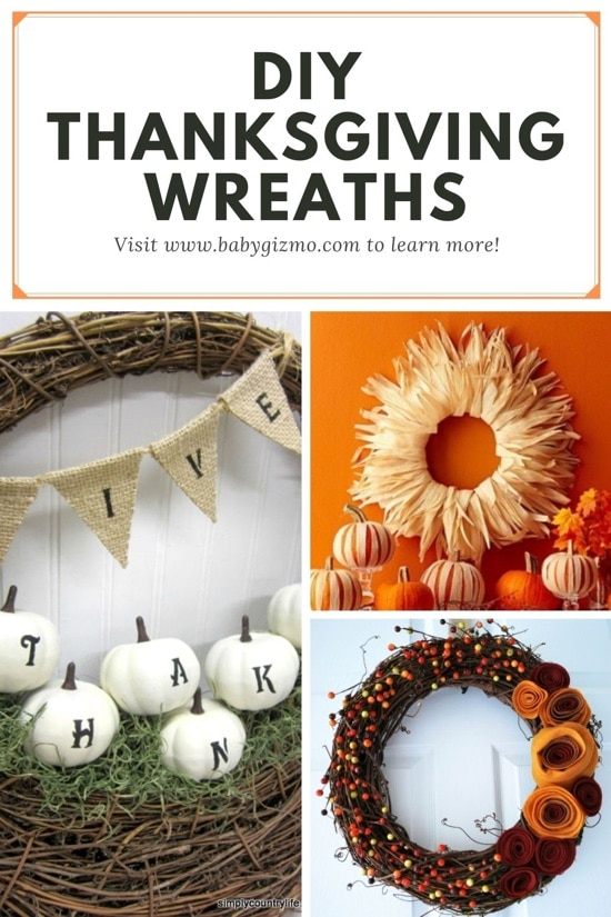 Diy thanksgiving Wreaths