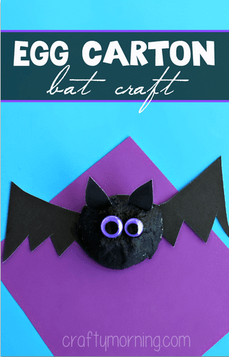 bat craft egg carton