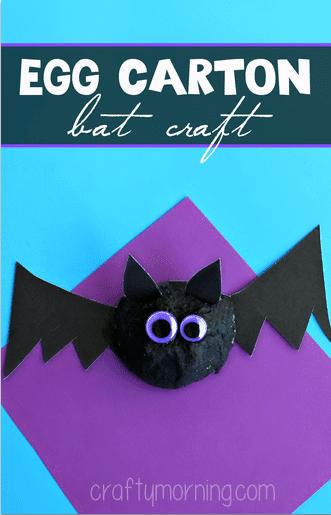 bat craft egg carton