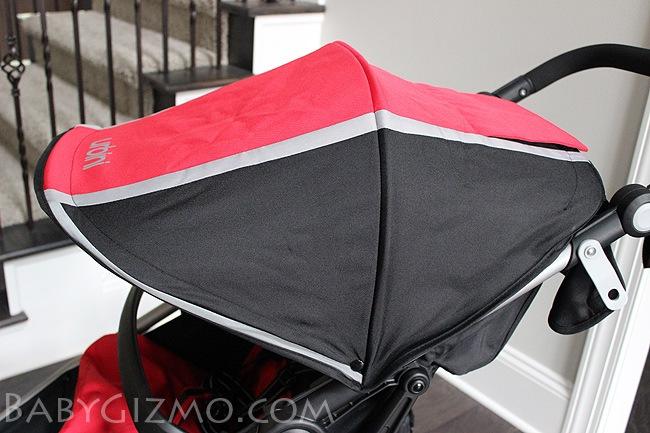 red and black canopy Urbini Avi