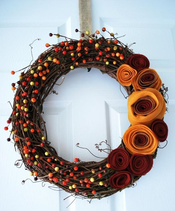 5 DIY Thanksgiving Wreaths