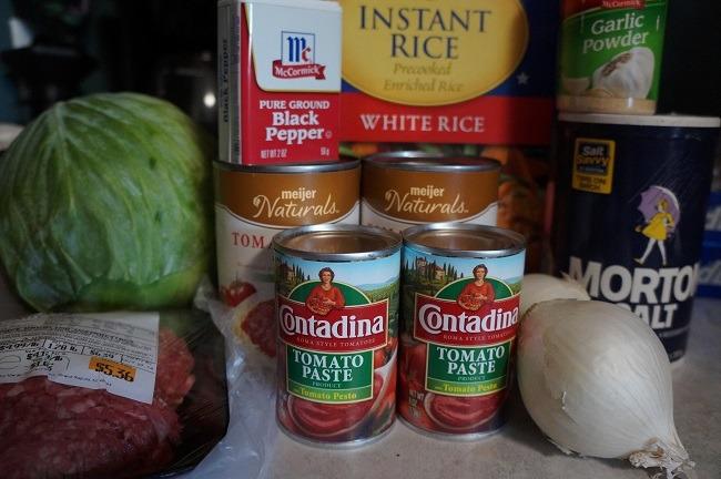 Ingredients (minus the chicken broth)