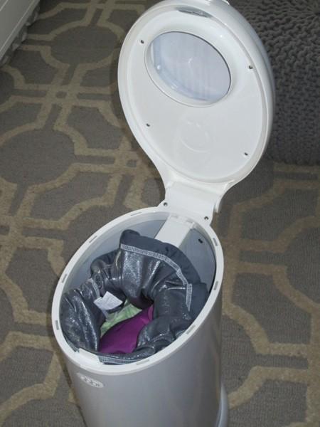 open diaper pail