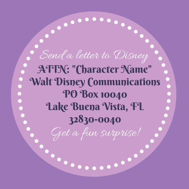 write a letter to your favorite disney character