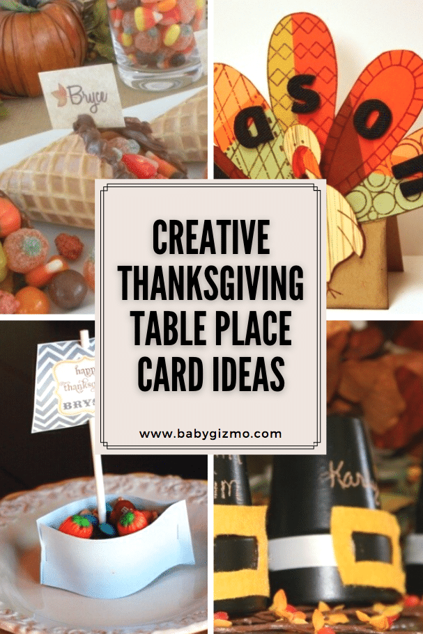 Creative Thanksgiving Table Place Card Ideas