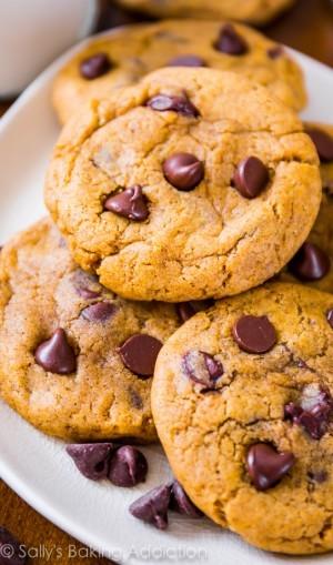 Sallys-Baking-Addiction-Pumpkin-Chocolate-Chip-Cookies-5
