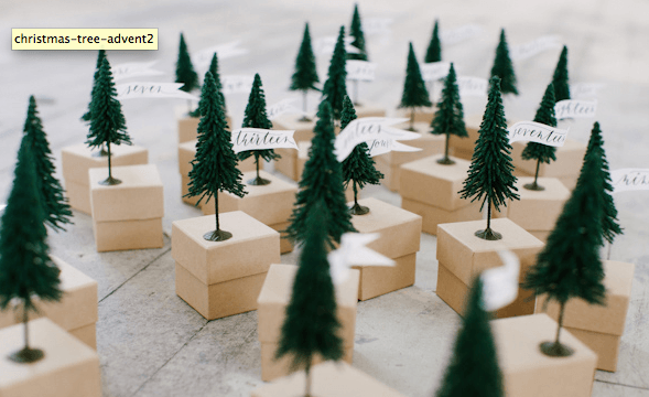 little forest of advent calendar boxes