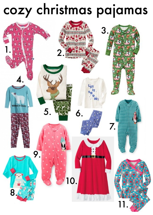 cozy christmas pajamas numbers