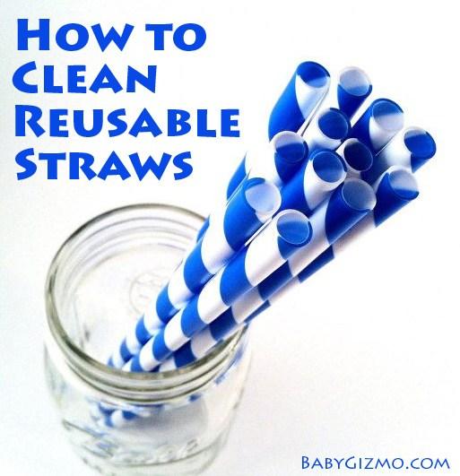 clean straws