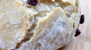 Cranberry Orange Rustic Bread