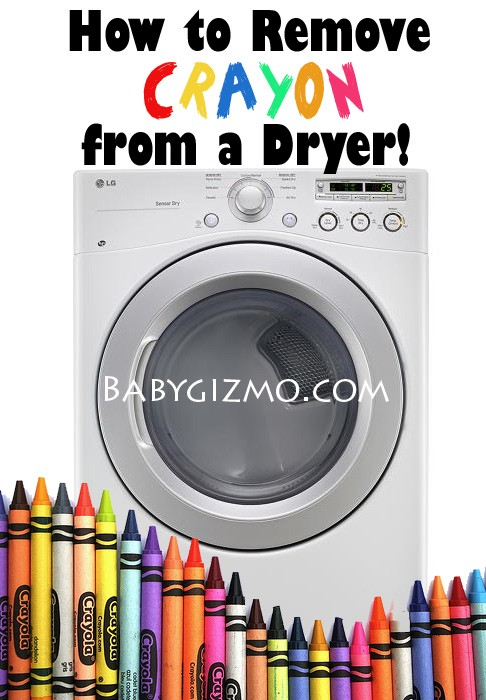 crayons in dryer