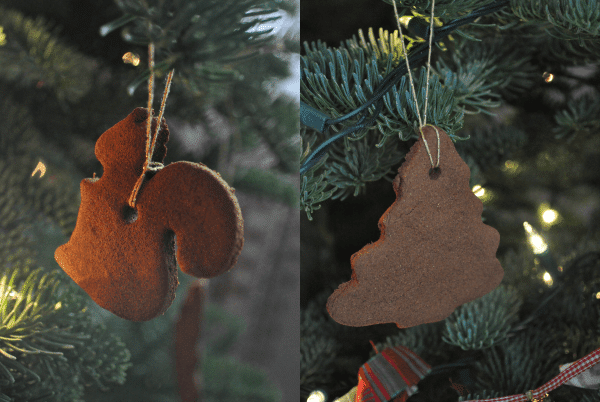 squirrel and tree ornaments