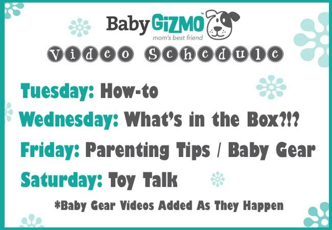 BabyGizmo Video Schedule