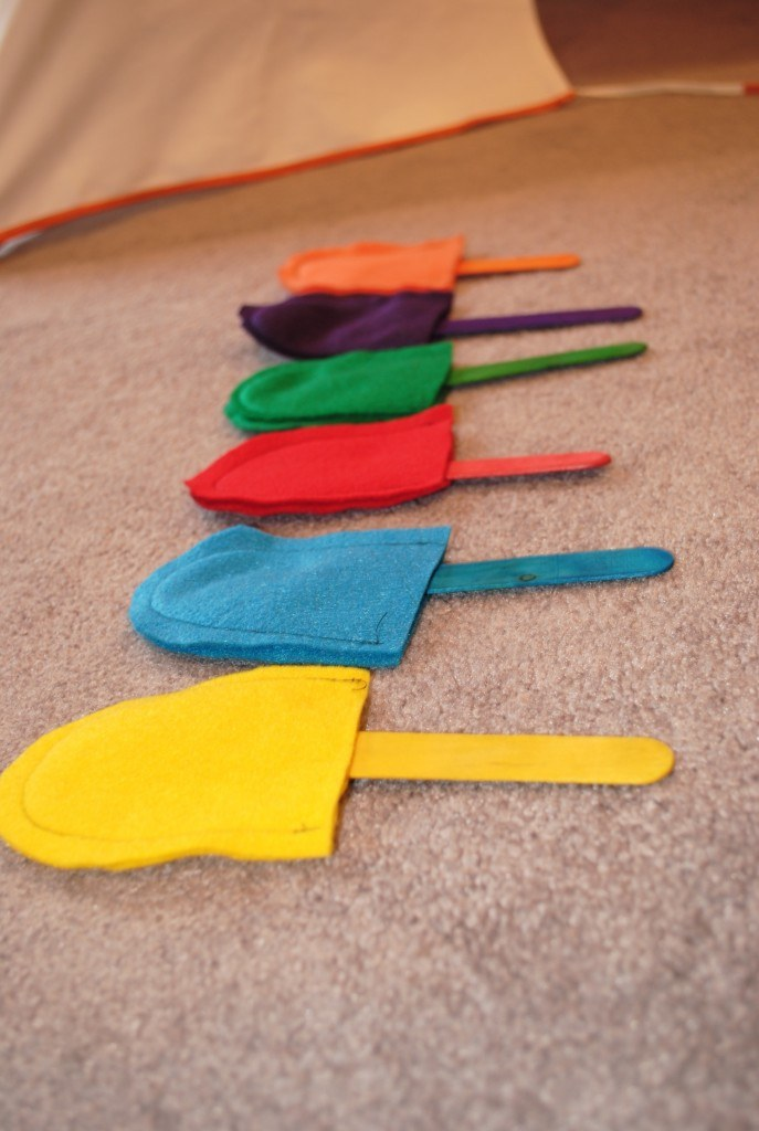 colorful popsicle project - busy bag crafts