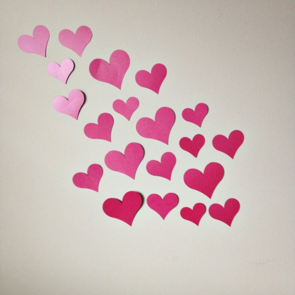 hearts on the walls