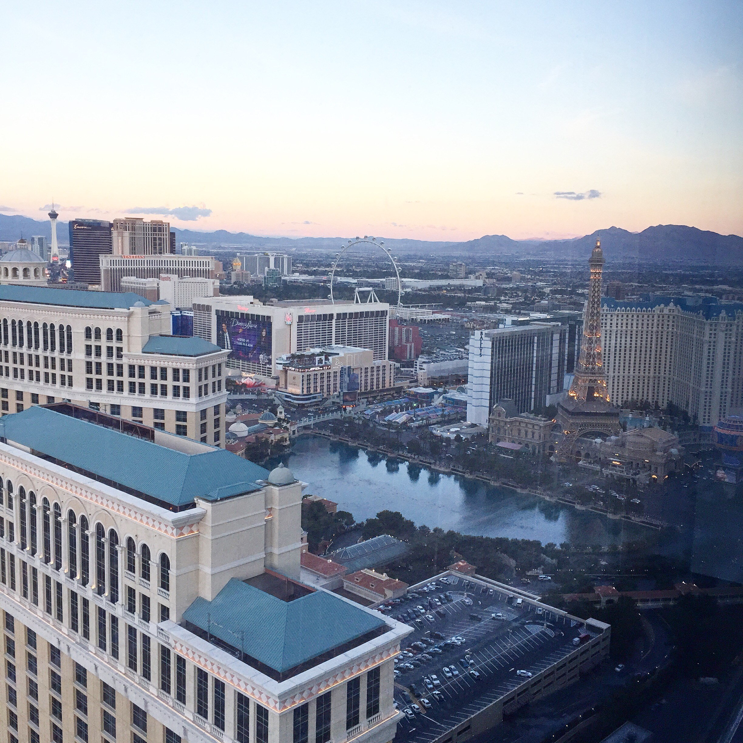 view from vdara in vegas