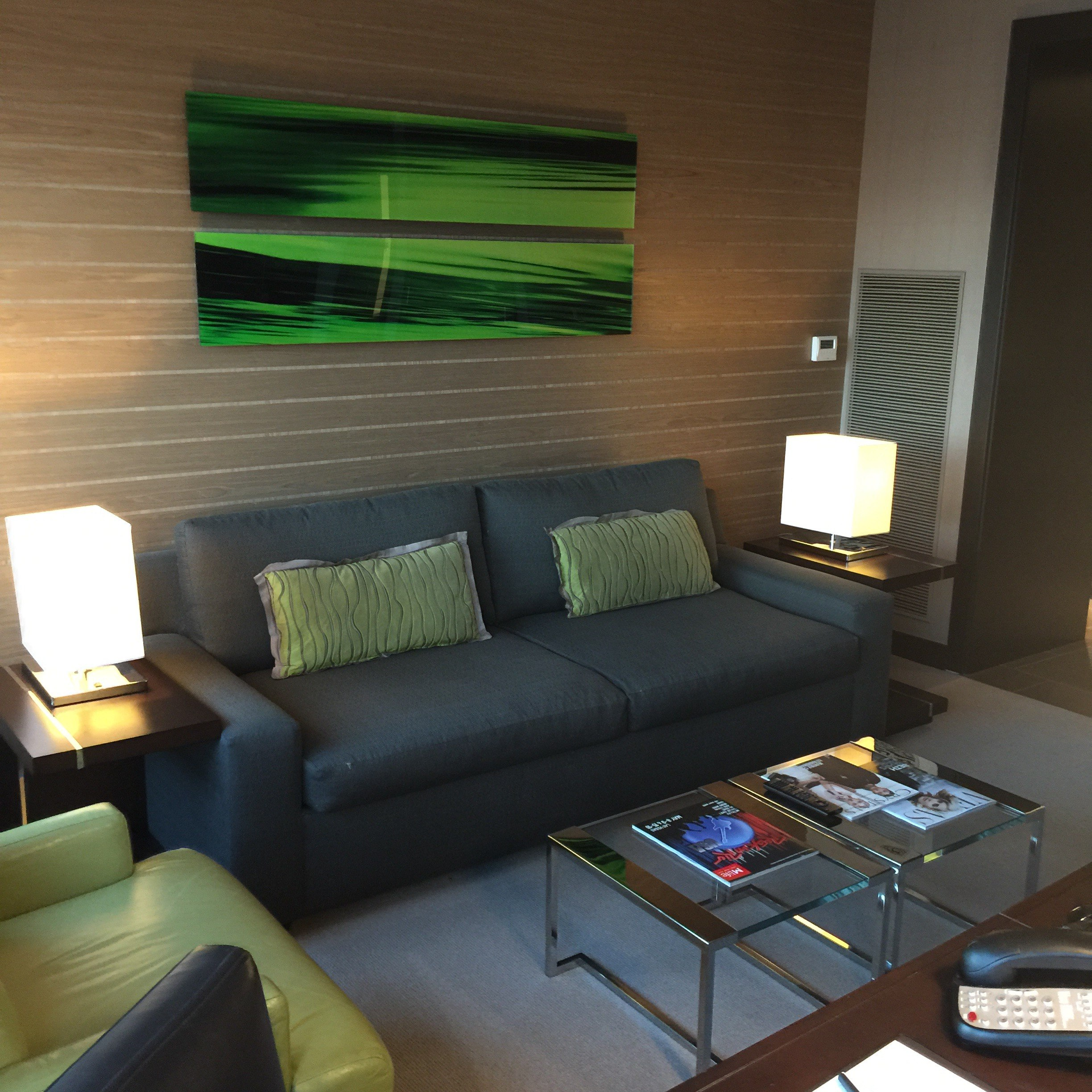 vdara room tour with couches
