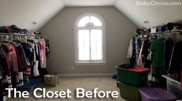 The Master Closet Before the Transformation