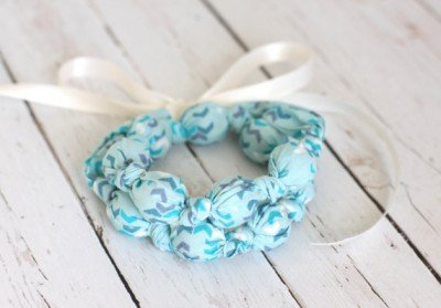 fabric covered beads