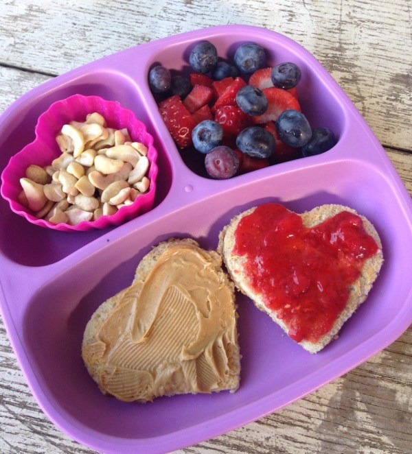Heart shaped lunch - family activities
