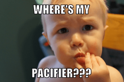 baby asking for pacifier