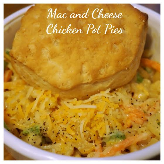 Mac and Cheese Chicken Pot Pies