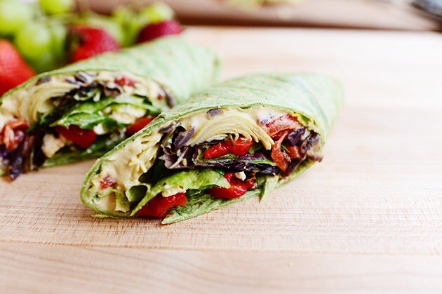 Great Snacks to Bring The Breastfeeding Mom: Hummus Wraps