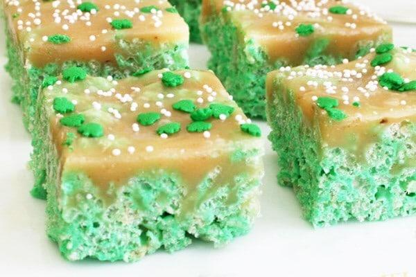 St Patrick's Day desserts: Krispie Treats