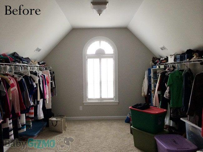 Master closet before organization