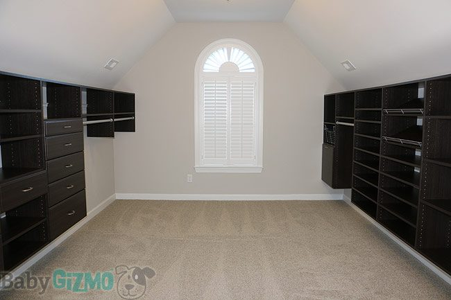 Master Closet with easy closets installed