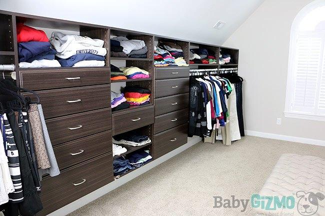 Master Closet with Easy Closet ORganizers