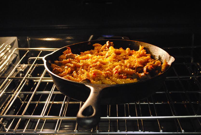 skillet pasta in oven