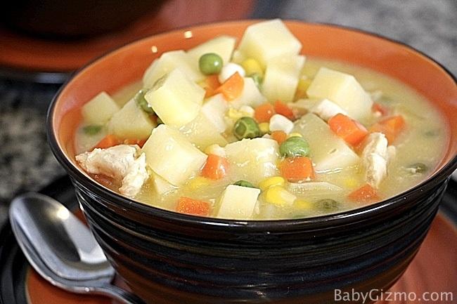 Crockpot Chicken Pot Pie Soup Recipe