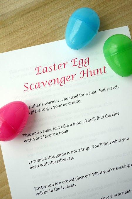 EasterEggScavengerHuntClues