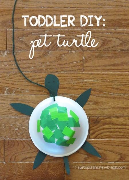 Toddler DIY Pet Turtle