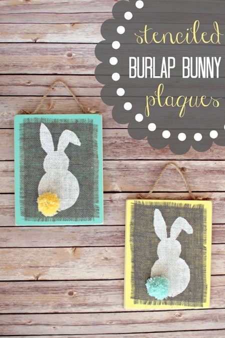 burlap bunny Easter Craft