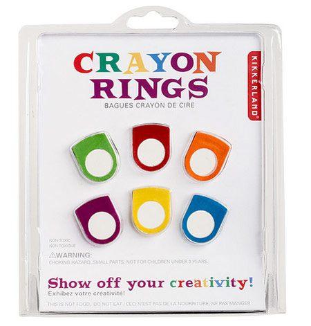 Easter Basket Ideas: Crayon Rings
