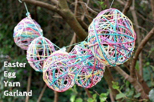 Easter Egg Yarn Garland