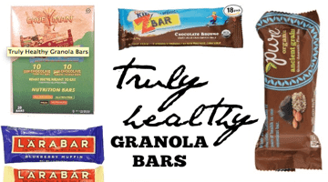 Truly Healthy Granola Bars
