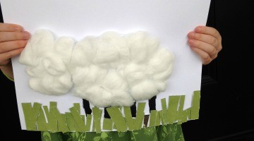 Wooly Little Lamb Spring Art Project