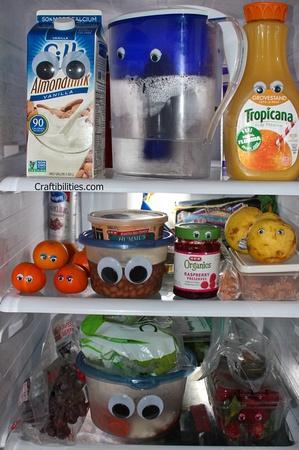 eyes on everything in refrigerator