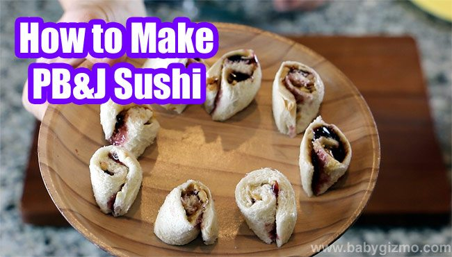 Peanut Butter & Jelly Sushi
