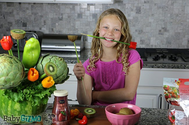 girl with a watermelon vase