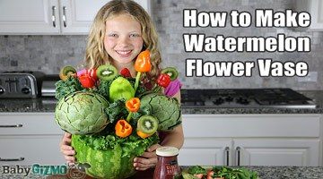 How to Make a Watermelon Flower Vase