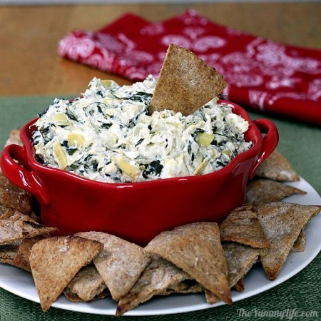 15 Easy Recipes - Healthy Spinach Dip
