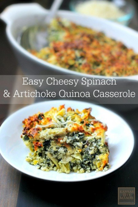 15 Easy Recipes - Cheesy Quinoa Casserole