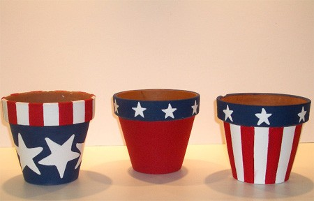 4th of july pots