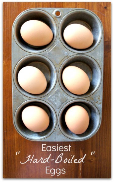 hardboiled eggs in a muffin pan
