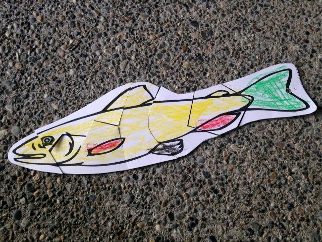 Fish puzzle craft