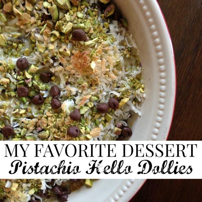 pistachio hello dollies